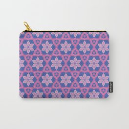 Patterns: Pink Flowers Carry-All Pouch