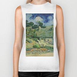 """Vincent van Gogh """"Thatched Cottages at Cordeville"""" Biker Tank"""