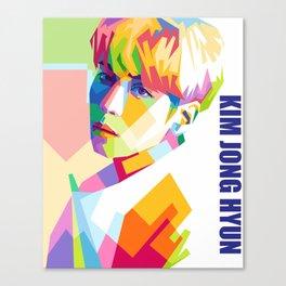 Kim Jong Hyun In Pop Art Canvas Print