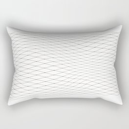 Fish net / black on white distorted geometry Rectangular Pillow