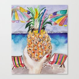 Pineapple Fresh Canvas Print