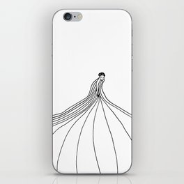 All of a sudden she vanished ... without a trace. iPhone Skin