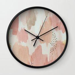 Watercolor pastels Wall Clock