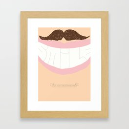 Smile - A Positive Attitude Framed Art Print