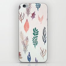 Mix of plants and watercolor leaves iPhone & iPod Skin