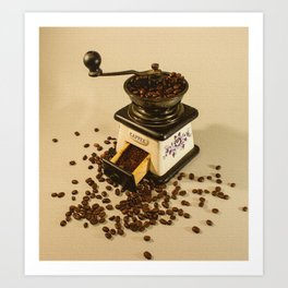 smell of coffee Art Print