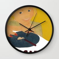 cocaine Wall Clocks featuring Sweet sweet cocaine... by Albertine et Gedeon