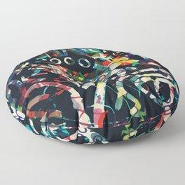 Graffiti Abstract Art Spray Paint Floor Pillow