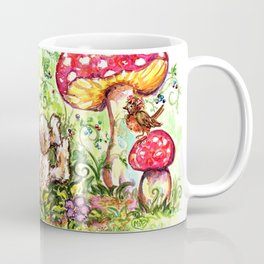 Bunny in Fairy Garden Coffee Mug