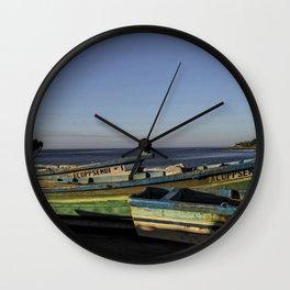 Fishin Boats Wall Clock