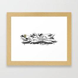 """""""BAD"""" Framed Art Print"""