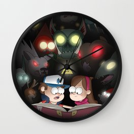 Gravity Falls - Monster Manual Wall Clock