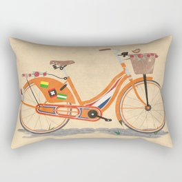 Love Holland, Love Bike Rectangular Pillow