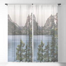 Grand Teton Wanderlust Lake Adventure - Nature Photography Sheer Curtain