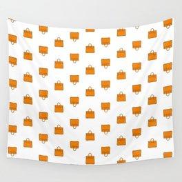 Orange Birkin Vibes High Fashion Purse Illustration Wall Tapestry