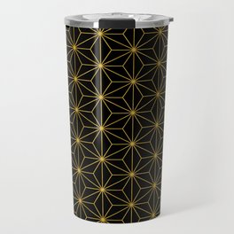 Asanoha -Gold & Black- Travel Mug
