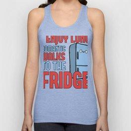 Funny Food Lover Enjoy Long Walks to the Fridge Unisex Tank Top