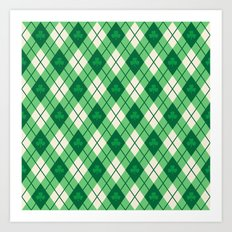 Irish Argyle Art Print