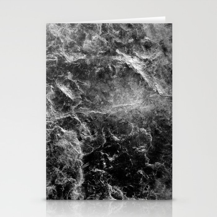 Enigmatic Black Marble #1 #decor #art #society6 Stationery Cards