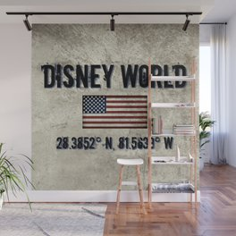 The Longitude and. Latitude of WDW in Orlando, FL Wall Mural