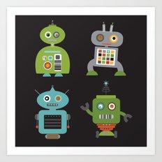 Robot Life Art Print