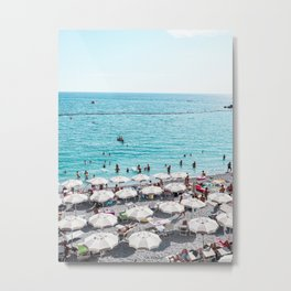 Amalfi Beach Metal Print
