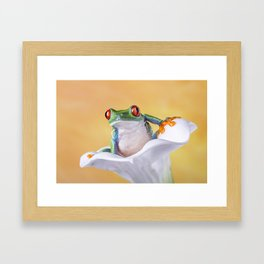 Are You Sitting Comfortably? Framed Art Print