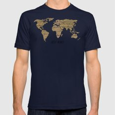 Hello World LARGE Mens Fitted Tee Navy
