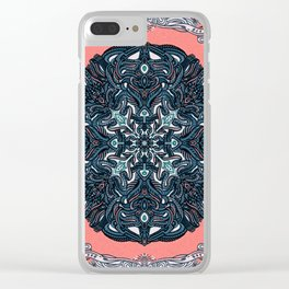 Phases Mandala Clear iPhone Case