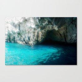 Turquoise sea Canvas Print