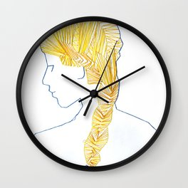 Sewing Portrait 1 Wall Clock