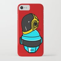 daft punk iPhone & iPod Cases featuring Daft Punk by Alli Vanes