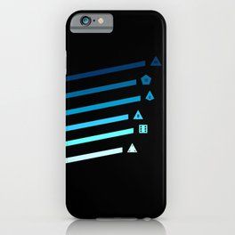 Blue Streaking Dice iPhone Case