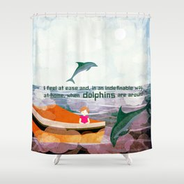 When dolphins are around 3 Shower Curtain
