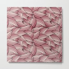 PALE DOGWOOD LEAVES B (abstract flowers nature) Metal Print