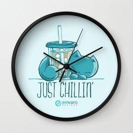 Skribbles: Just chillin' Wall Clock