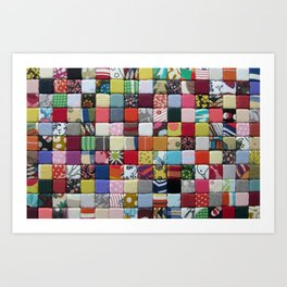 Bordage no3 - Fabric composition Art Print