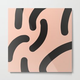 Funky Bold Rounded Stripes Metal Print