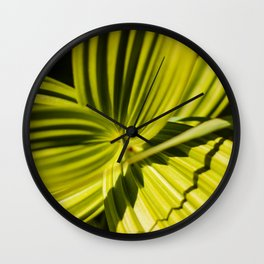 Green Leaf Photography Print Wall Clock