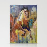 horses Stationery Cards featuring Horses by Michael Creese