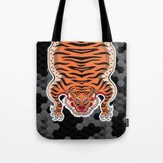 TIBETAN TIGER (black) Tote Bag