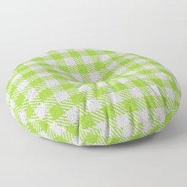 Yellow Green Buffalo Plaid Floor Pillow