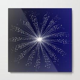 Exploding Sky Rocket Metal Print