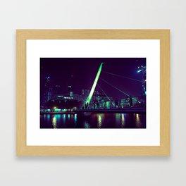 Bridge from Canary Wharf Framed Art Print