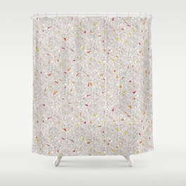 Little Triangles Pattern Shower Curtain