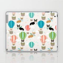 Corgi hot air balloon ride cute gifts for corgi lovers welsh corgi red and tricolored Laptop & iPad Skin