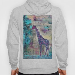 Majestic Series: Giraffe having a berry Hoody