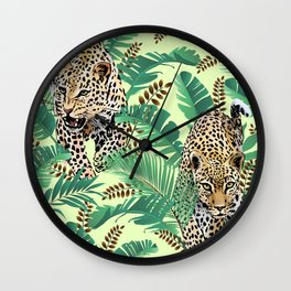 Tiger In The Jungle Wall Clock