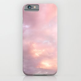 Pink Sunset Explosion | Puffy Clouds | Skyscape Photography | Pink Sky | Landscape | Sunset iPhone Case