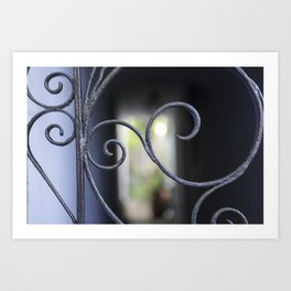 Charleston Blue Wrought Iron Art Print